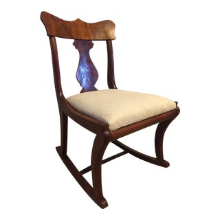 Early Twentieth Century Wooden Rocking Chair For Sale