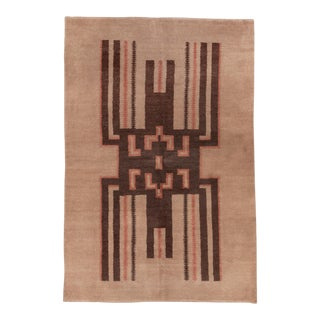 Late 20th Century Abstract Art Deco Rug-5′8″ × 8′5″ For Sale