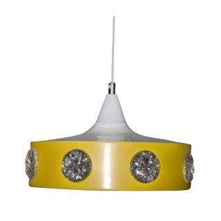 Mid-Century Vibrant Yellow Swedish Modern Pendant For Sale