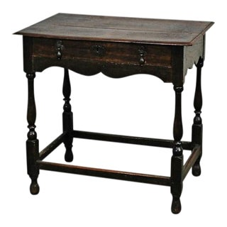 William and Mary Oak Tavern Table, 18th Century