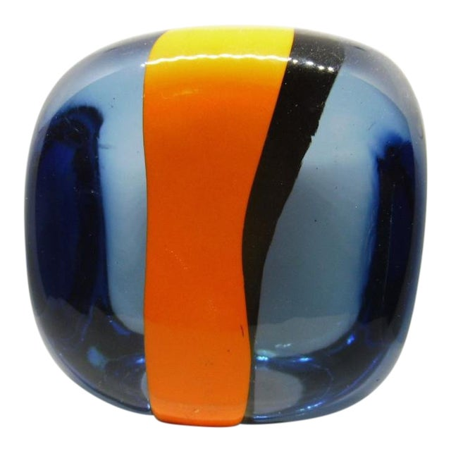 1970s Vintage Pierre Cardin for Venini Murano Glass Paperweight For Sale