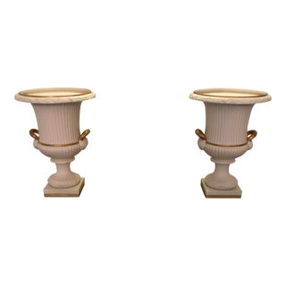 Chelsea House Port Royal Porcelain Urns - a Pair For Sale