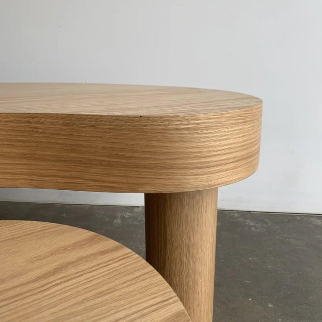 Contemporary Kidney Two Tiered Coffee Table - A Pair For Sale - Image 11 of 13