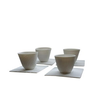 Mixed Tea Cups and Saucers - Service for 4 For Sale