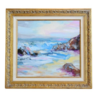 Juan Guzman, Seascape Crashing Waves Abstract Painting For Sale