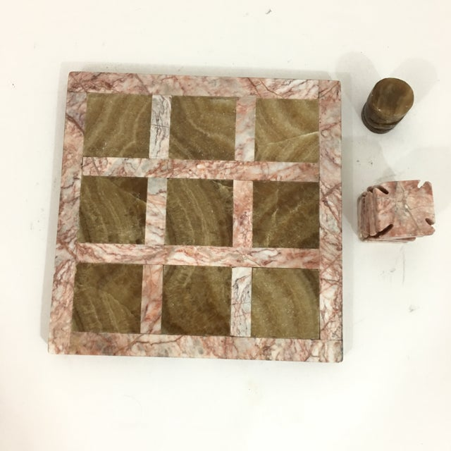 Marble Pink Stone Tic Tac Toe Game Board For Sale - Image 7 of 9