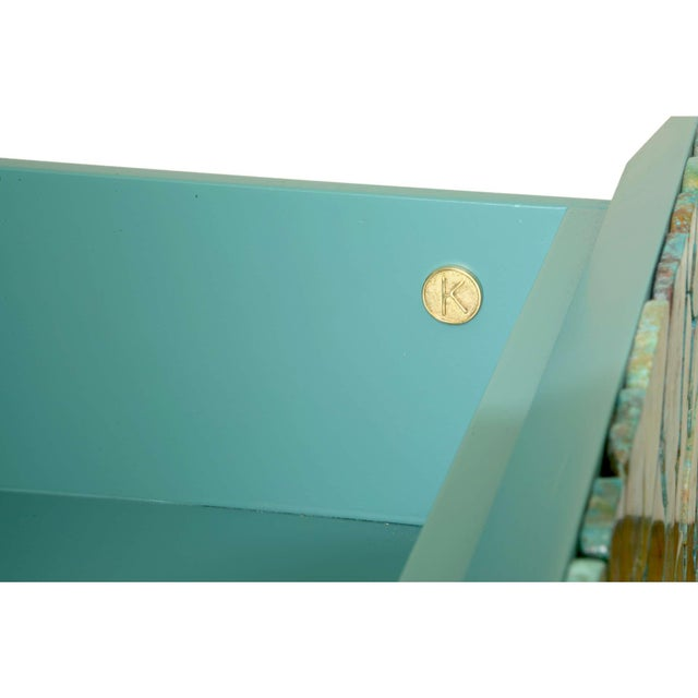 KAM TIN Kam Tin - Turquoise Large Chest of Drawers, France, 2015 For Sale - Image 4 of 10