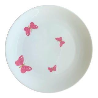 "Vintage Jean Luce Pink Butterflies Plates 7.5"" by Arzberg Bayern Porcelain Germany - Set of 7 For Sale"