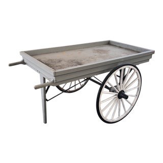 Vintage Farm Market Vending Display Push Cart