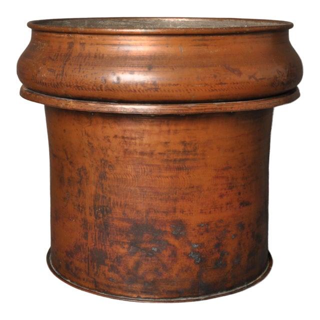 Large Copper Pot, Switzerland, 1940s For Sale
