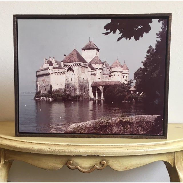 Bohemian Castle Rustic Wood Framed Photograph - Image 2 of 4