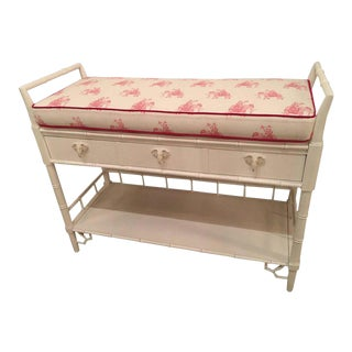 Vintage Lilly Pulitzer Girls Faux Bamboo Lacquered Baby Changing Table For Sale