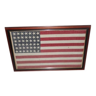 Framed 42 Star American Parade Flag from 1886 For Sale