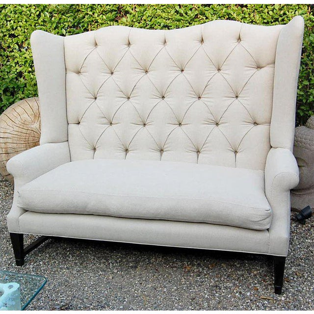 Contemporary Wing Back Sofa For Sale - Image 3 of 9