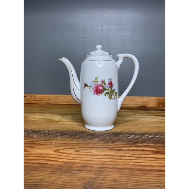 Pink Roses Tea and Teapot Set For Sale - Image 11 of 12