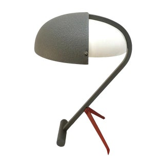 1950s Louis Kalff for Philips Metal Desk Lamp For Sale