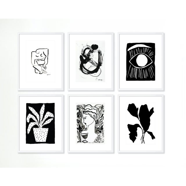 Minimalist Gallery Wall - Set of 6 For Sale - Image 9 of 9