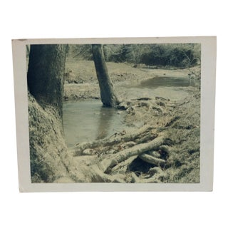 "Original Mounted Black & White Photograph, ""The Stream"" by George Poellot For Sale"