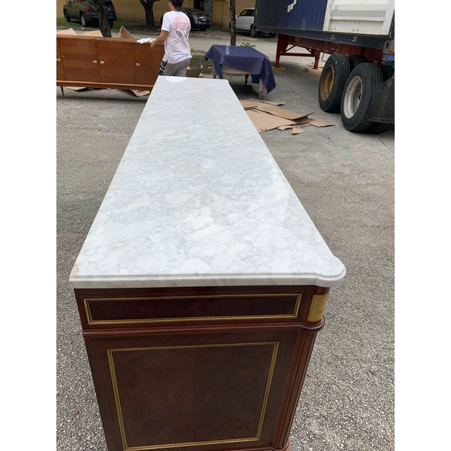 1910s French Louis XVI Antique Mahogany Sideboard For Sale In Miami - Image 6 of 13