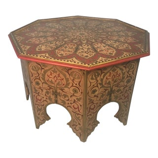 1970s Vintage Painted Moroccan Coffee Table For Sale