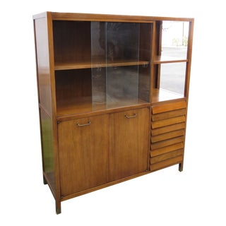 Mid Century Modern Display China Cabinet by American of Martinsville For Sale