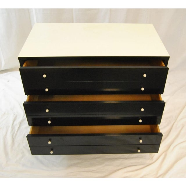 American of Martinsville American by Martinsville Black Chests - A Pair For Sale - Image 4 of 5