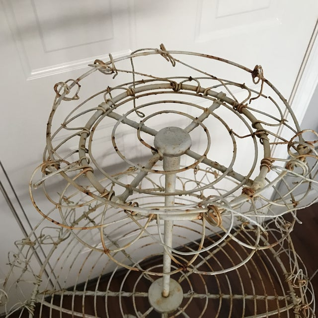 Antique French Tiered Wire Stand - Image 9 of 9