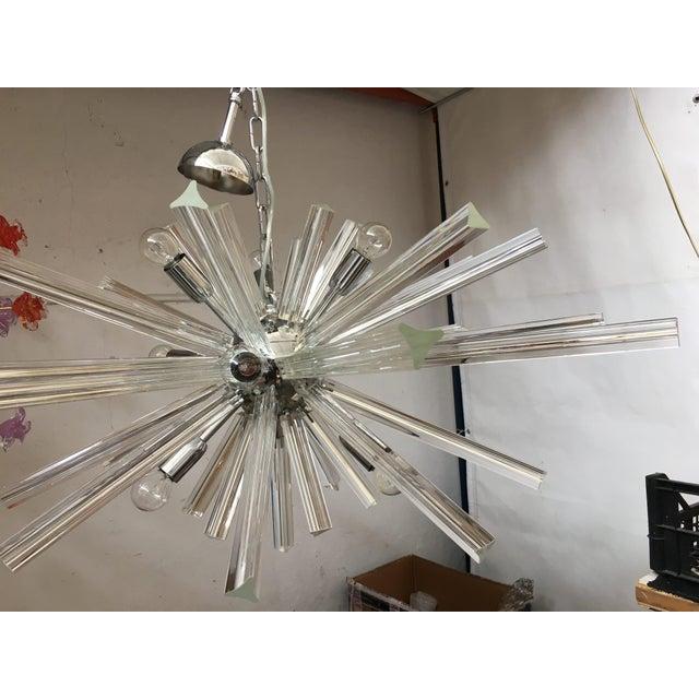 Italian Murano glass sputnik chandelier. diameter 95 cm = 37.4 9 bulbs murano glass made in italy metal frame in kromo