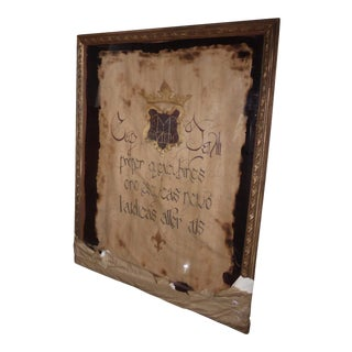 """Large 60""""x47"""" Shadow Box Wall Mantle Picture Framed on Canvas Pirate Latin Saying For Sale"""