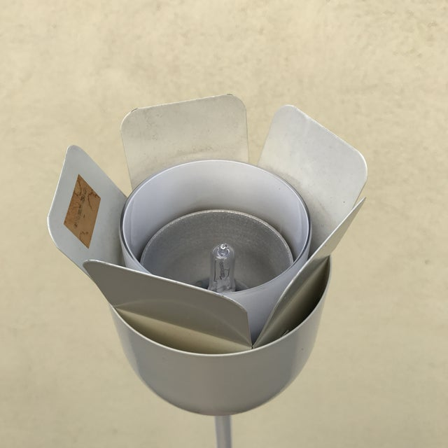 1960s Relco Italian White Metal Floor Lamp For Sale - Image 5 of 10