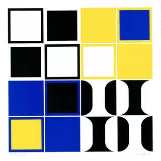 Heinz Kreutz Modern Abstract Color Silkscreen For Sale