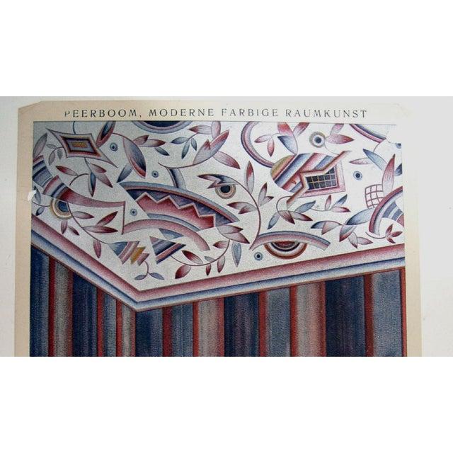 Art Deco Antique 1929 Art Deco Interior Pochoir Print For Sale - Image 3 of 3
