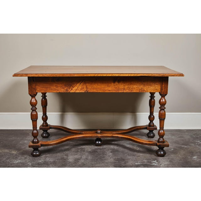 18th C. Louis XIII Walnut Library Table For Sale - Image 4 of 10