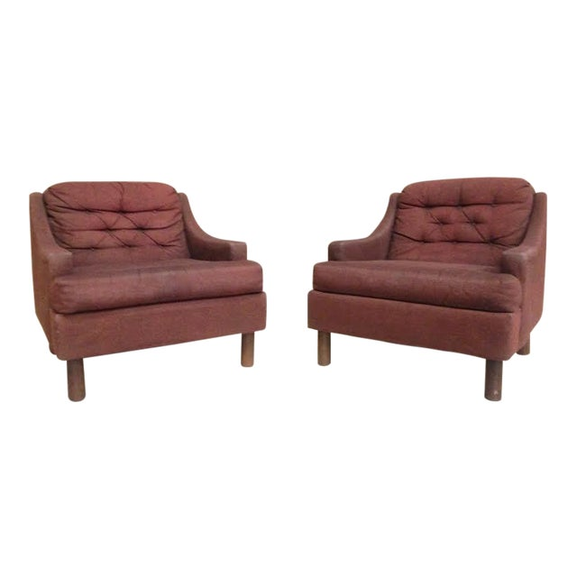 Selig Low Lounge Chairs - A Pair - Image 1 of 7