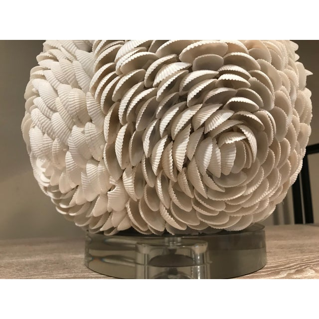 Regina Andrew White Seashell Table Lamp - White For Sale - Image 4 of 5