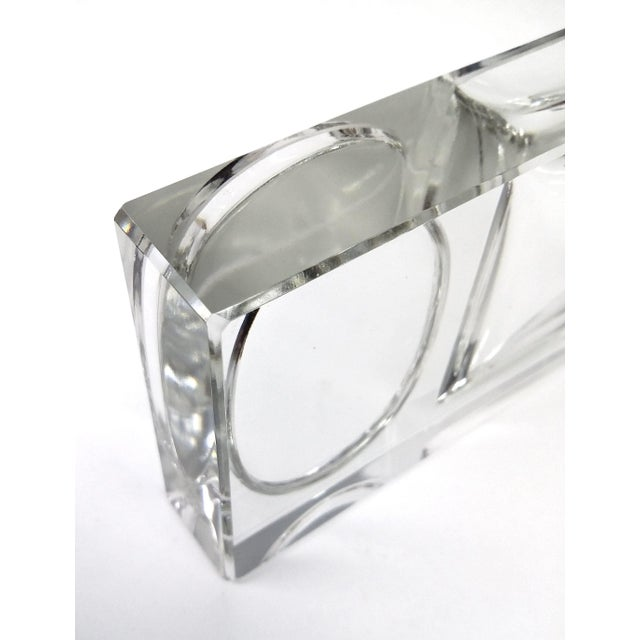 Crystal Art Deco Cigarette Ashtray - 2 Pieces - Image 10 of 11