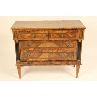 1950s Italian Burl Olive Wood Neo Classical Style Chest of Drawers Preview