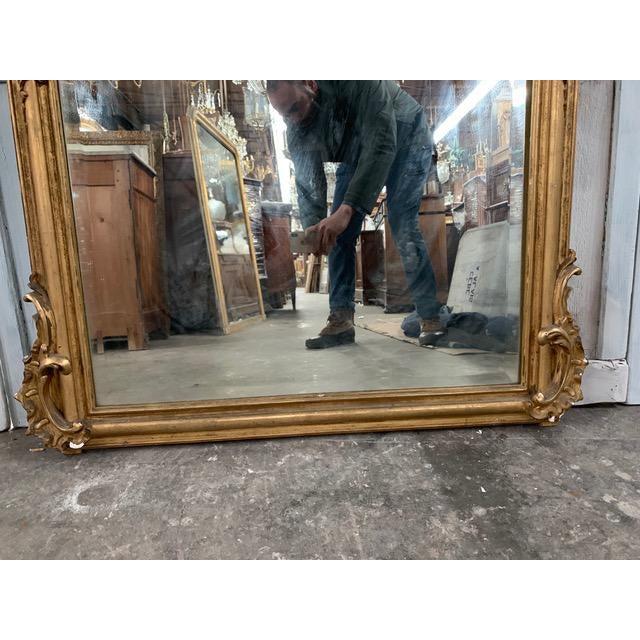 18th Century Grand Napoleon III Wall Mirror For Sale - Image 9 of 11