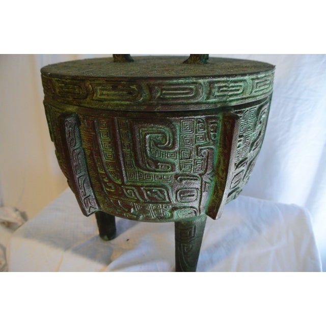Aztec Style Covered Urn/Ice Bucket by James Mont - Image 2 of 5