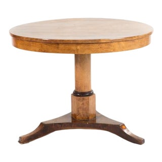 Biedermeier Birch & Parcel Ebonized Tilt-Top Table For Sale