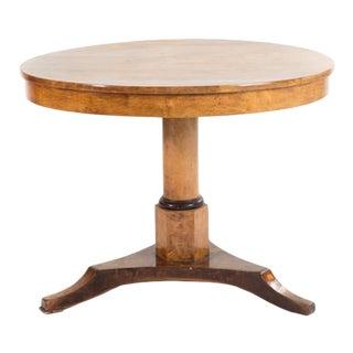 Biedermeier Birch & Parcel Ebonized Tilt-Top Table For Sale