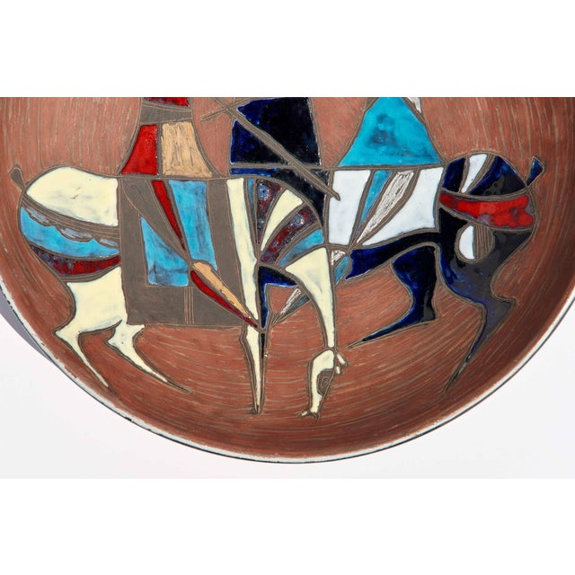 1950s Large Wall-Plaque / Charger by Marcello Fantoni For Sale - Image 5 of 8