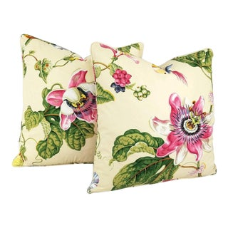 Brunschwig & Fils Parfum D' Ete in the Color Vanilla Pillow Covers - a Pair For Sale