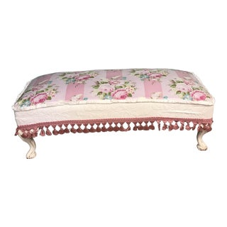 Antique Floral Shabby Chic Bench