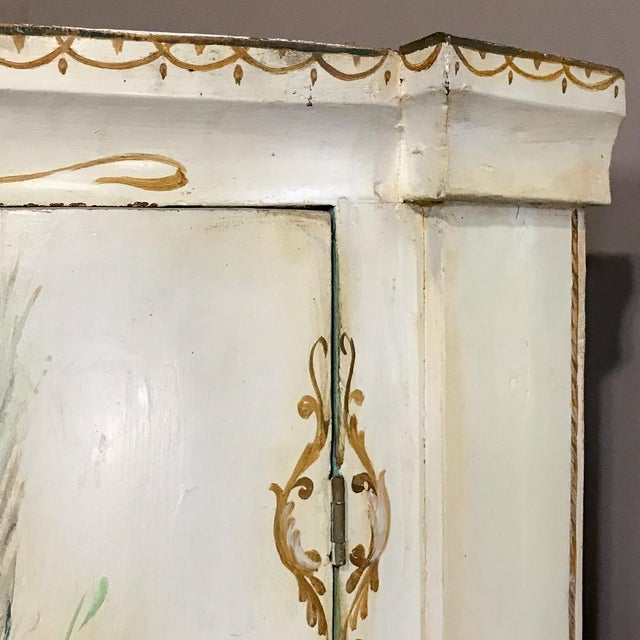 19th Century Swedish Painted Corner Cabinet For Sale - Image 11 of 13