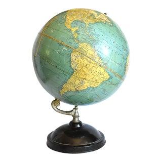 "Vintage 1935-1940 Cram's Universal Terrestrial Globe 12"" No. 3 For Sale"