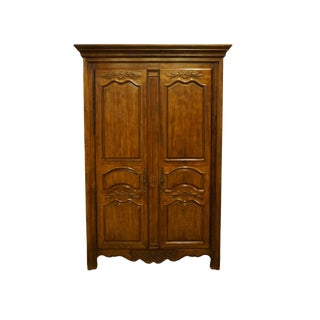 Thomasville Furniture Chalet Collection Country French Armoire For Sale