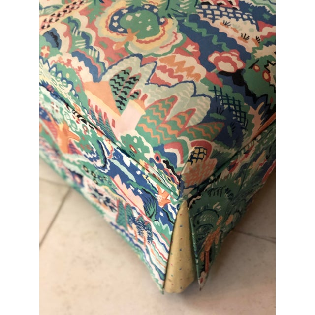 Boho Chic Style Upholstered Vanity Chair For Sale - Image 11 of 13