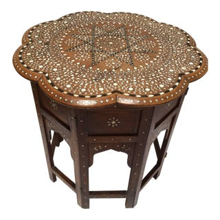 Anglo-Indian Inlaid Octagonal Side Table
