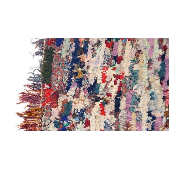 """Vintage Boucherouite Rag Rug - 3'7"""" x 6' - Image 2 of 3"""